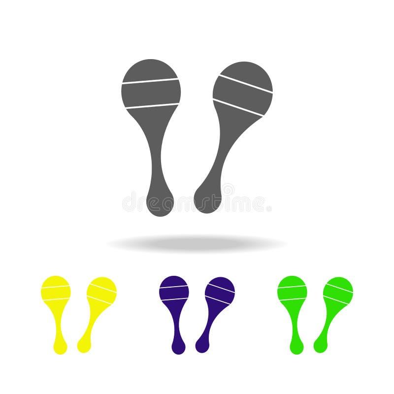 maracas färgade symboler Beståndsdel av leksaker Kan användas för rengöringsduken, logoen, den mobila appen, UI, UX vektor illustrationer