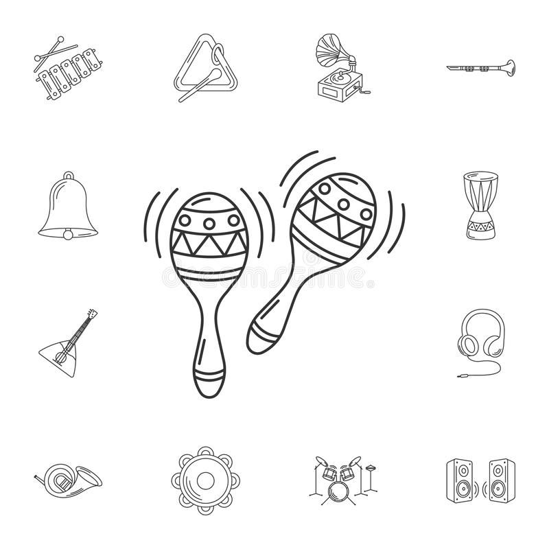 Maracas icon. Simple element illustration. Maracas symbol design vector illustration
