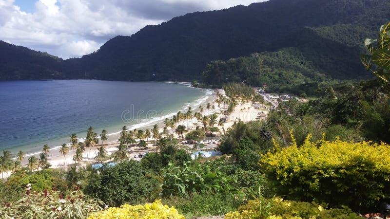 Maracas strand Trinidad arkivfoto