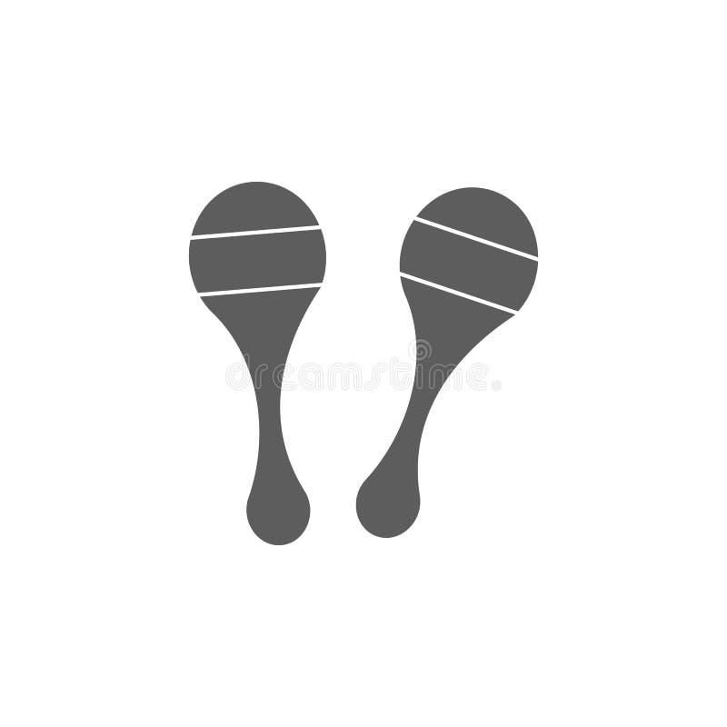 Maracas symbol Beståndsdel av leksaker för mobila begrepps- och rengöringsdukapps Symbol för websitedesignen och utveckling, app- vektor illustrationer