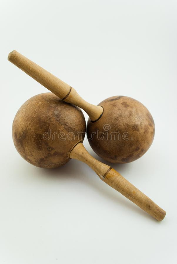 Maracas of the wood of Cuba royalty free stock photography