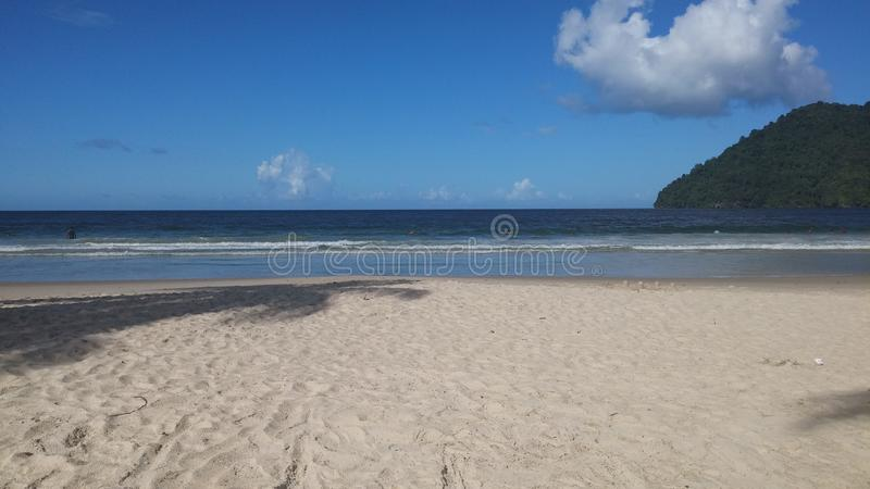 Maracasstrand Trinidad stock foto's