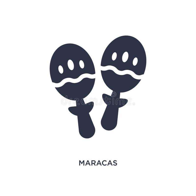 maracassymbol på vit bakgrund Enkel beståndsdelillustration från braziliabegrepp stock illustrationer