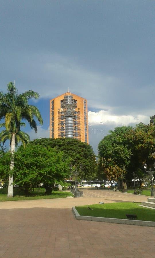 Maracay city. Plaza concreto verde royalty free stock photography