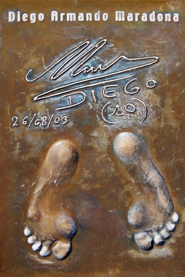 Maradona's footprints royalty free stock photo
