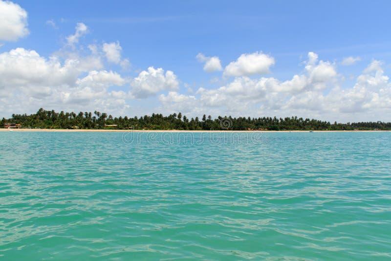 Maragogi από το νερό, Alagoas - Βραζιλία στοκ εικόνες