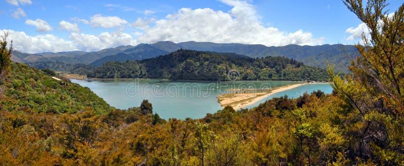 Marahau laguna, Abel Tasman park narodowy, Nowa Zelandia fotografia stock