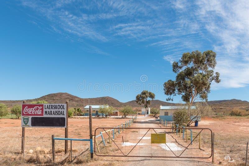 Maraisdal Primary School near Bonnievale. BONNIEVALE, SOUTH AFRICA - MARCH 26, 2017: The Maraisdal Primary School near Bonnievale in the Western Cape Province stock photography