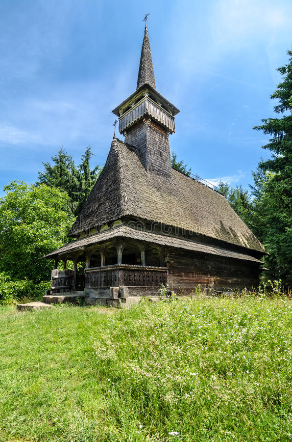 Maramures, landmark - wooden church stock image
