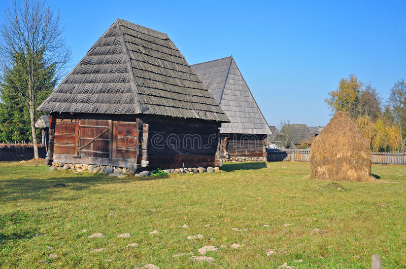 Maramures Old Houses Royalty Free Stock Image