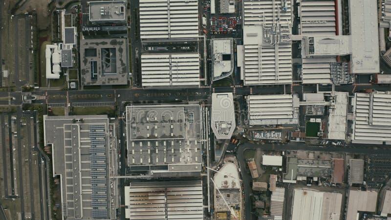 MARANELLO, ITALIË - DECEMBER 24, 2018 Luchttop down mening van Ferrari-complexe autofabriek stock fotografie