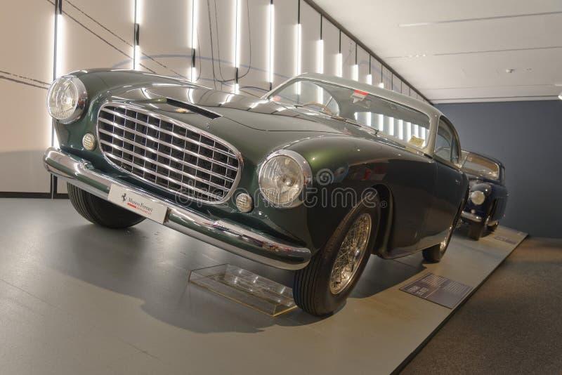 Maranello, Italië: Ferrari 195 inter Uitstekende sportwagen royalty-vrije stock foto