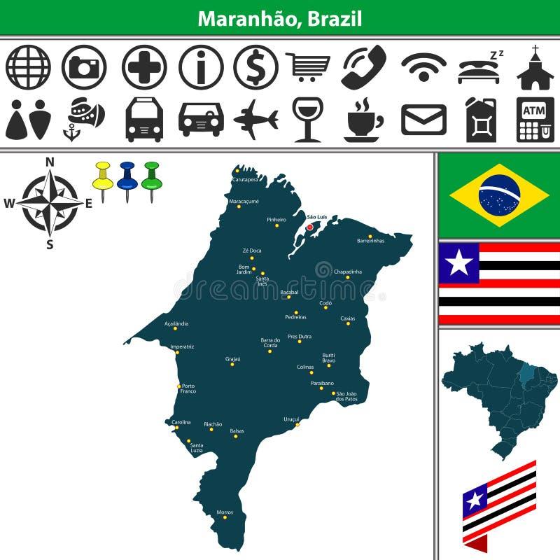 Maranhao,巴西地图  向量例证