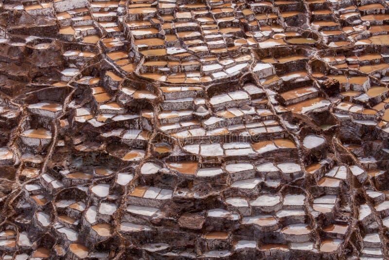 Maras的,神圣的谷,秘鲁盐矿 免版税库存照片