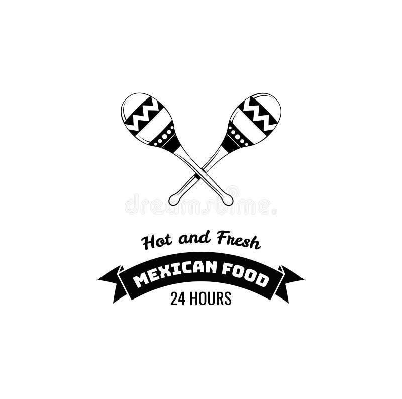 maraskino Meksyk jedzenie Tradycyjny Meksykański kuchnia wektor royalty ilustracja