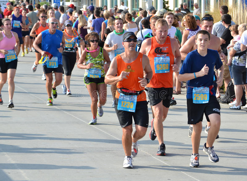 Maratón 2011 fotografía de archivo libre de regalías