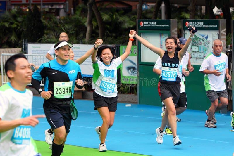 Maratón 2011 de Hong-Kong imagen de archivo libre de regalías