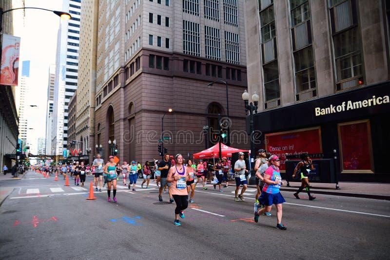 Maratón de Chicago del rock-and-roll medio imágenes de archivo libres de regalías