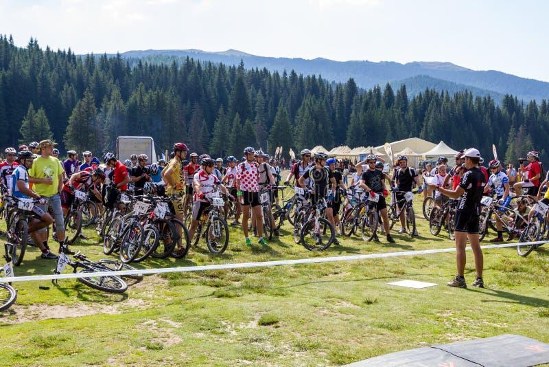 Maratón de la bici de montaña fotografía de archivo libre de regalías