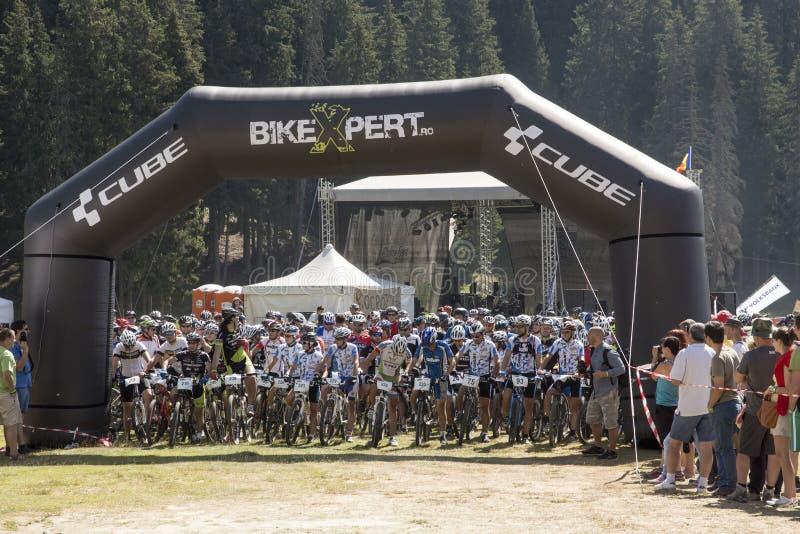 Maratón de la bici de montaña fotos de archivo libres de regalías
