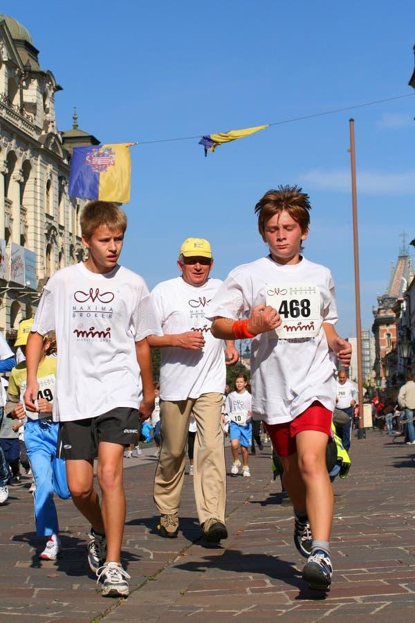 Maratón de la paz del hielo del ¡de KoÅ - corrida corporativa imágenes de archivo libres de regalías