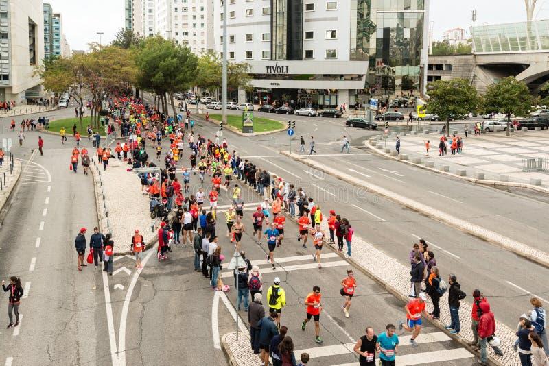 Maratón 2015 de Lisboa foto de archivo libre de regalías