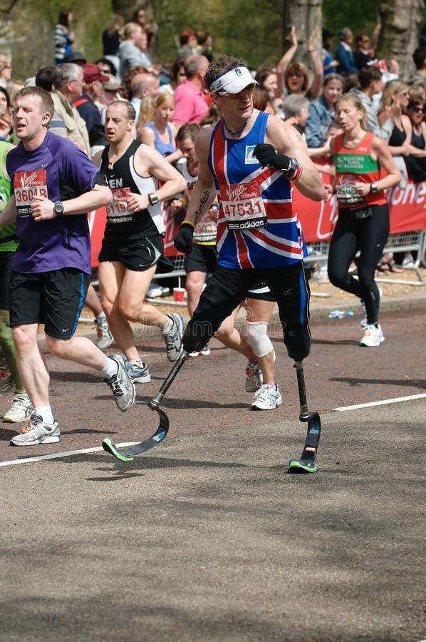 Maratón de Londres de la Virgen imagenes de archivo