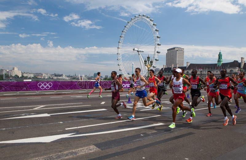 Maratón de los hombres - Olimpiadas 2012 imágenes de archivo libres de regalías