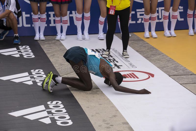 Maratón 2016 de Pekín fotografía de archivo libre de regalías