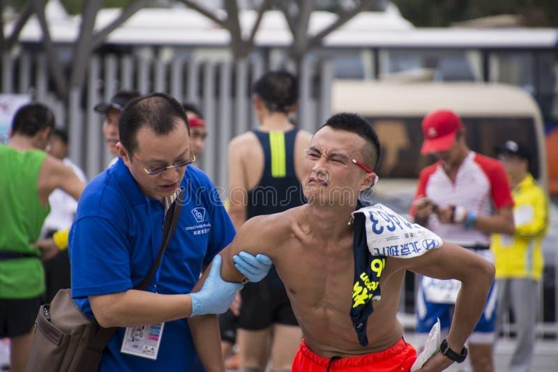 Maratón 2016 de Pekín fotografía de archivo