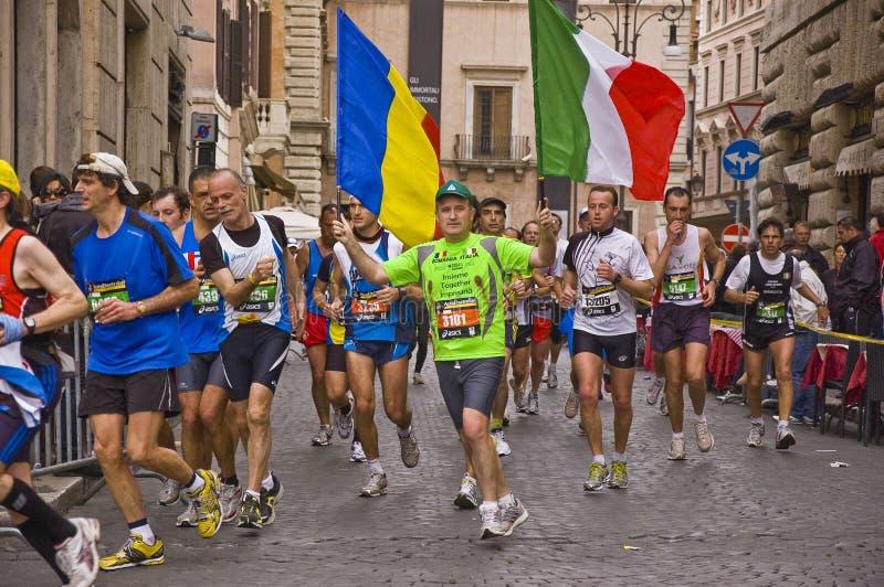 Maratón de Roma imágenes de archivo libres de regalías