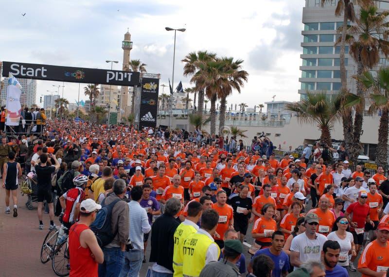 Maratón de Tel Aviv foto de archivo