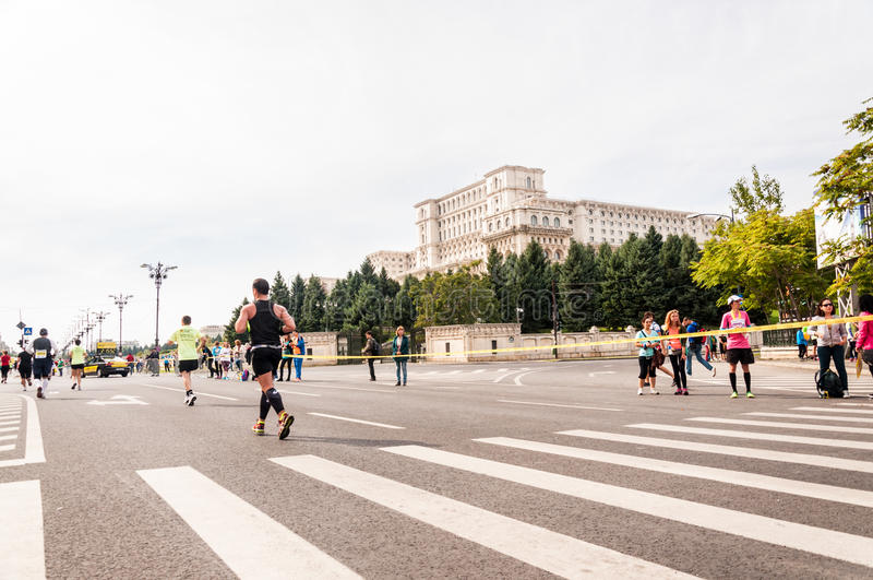 Maratón 2015 del International de Bucarest imágenes de archivo libres de regalías
