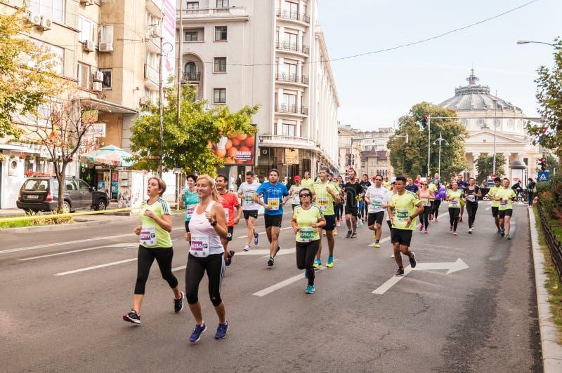 Maratón 2015 del International de Bucarest imagenes de archivo