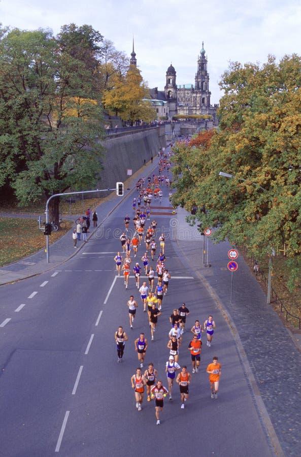 Maratón en Dresden - Alemania fotos de archivo libres de regalías
