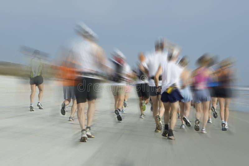 Maratón en la playa fotografía de archivo libre de regalías