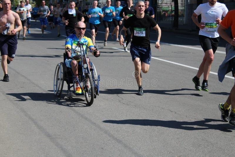 Maratón internacional de Kharkov 2018 foto de archivo