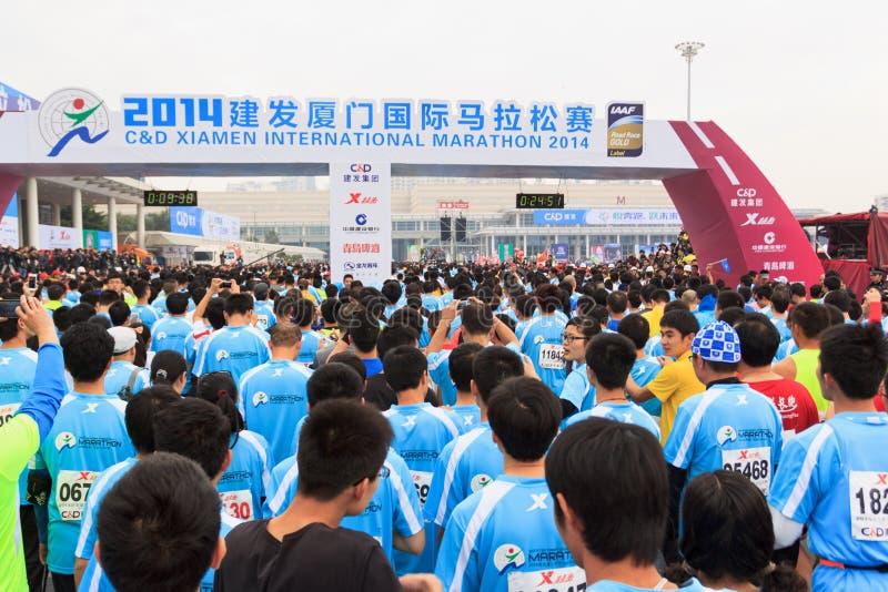Maratón internacional 2014 de Xiamen fotografía de archivo