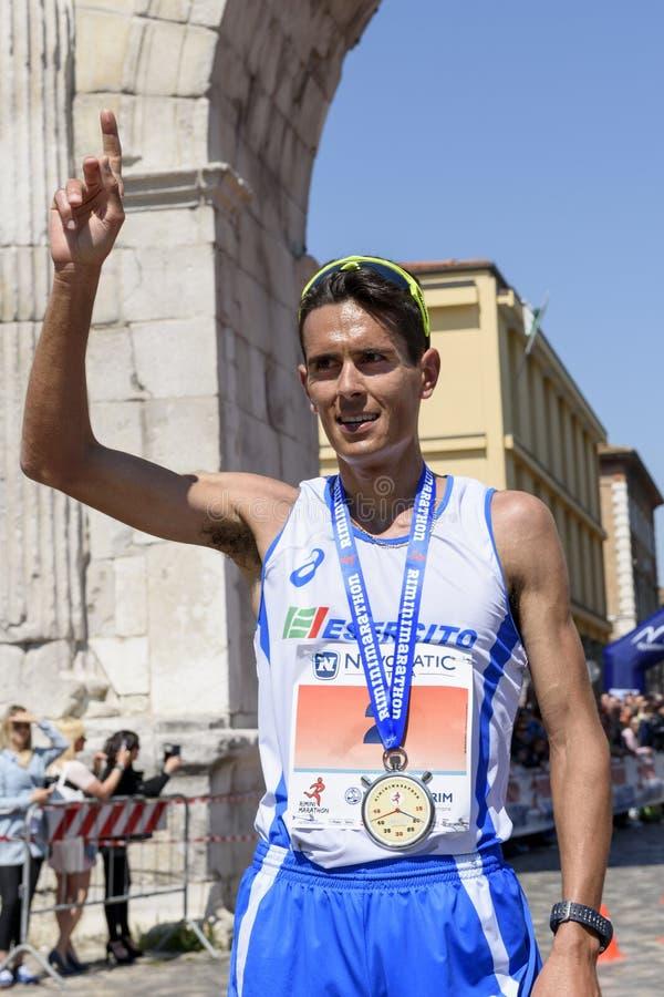 Maratón 2017, Italia de Rímini imagenes de archivo