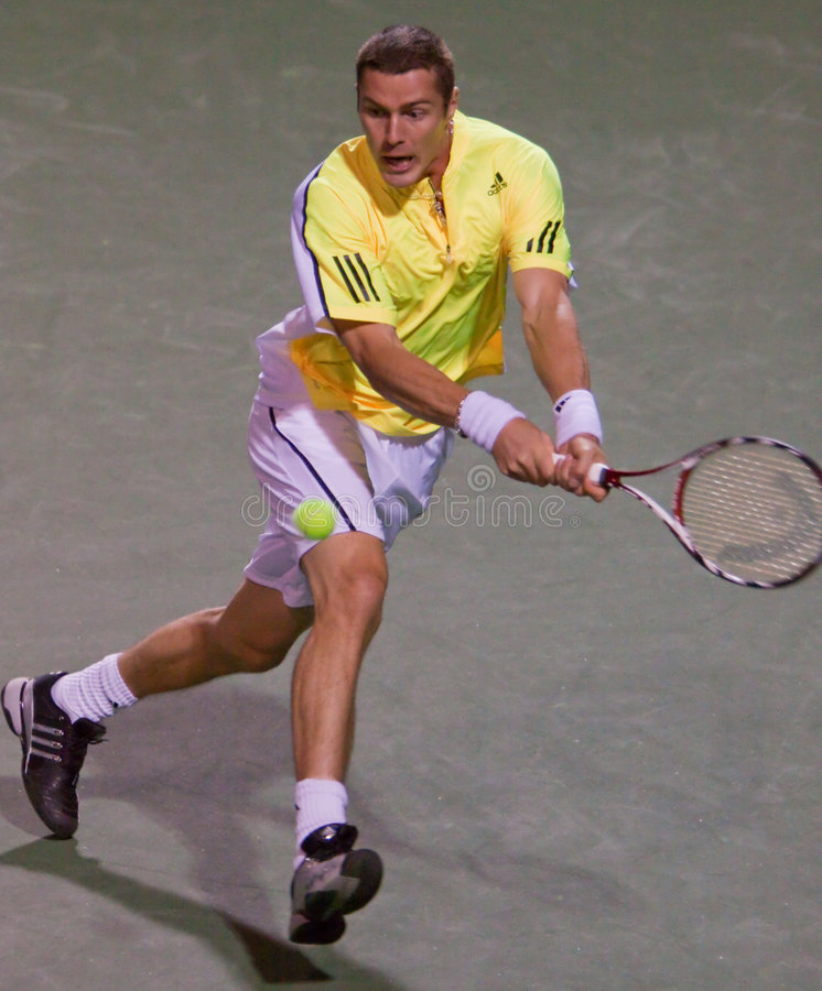 MARAT SAFIN at the 2009 BNP Paribas Open royalty free stock images