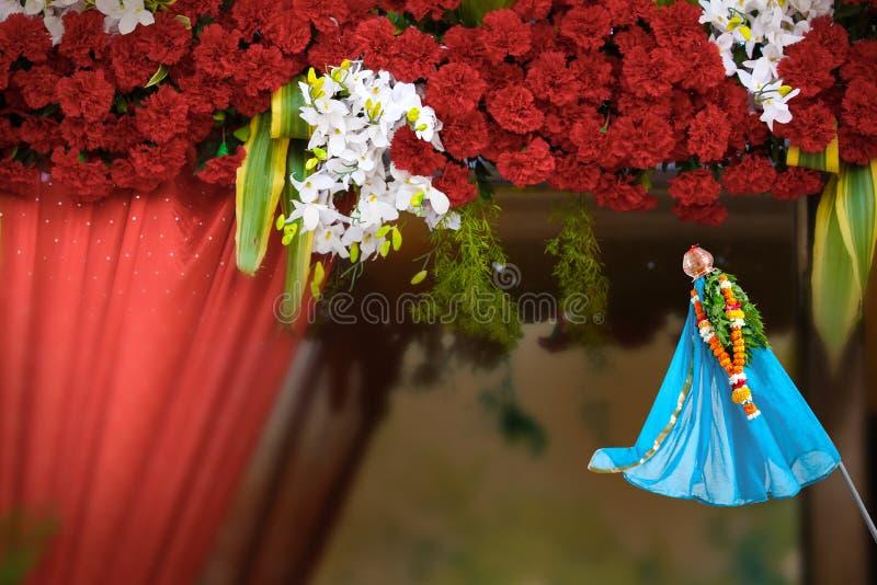 Marathi-neues Jahr Gudi Padwa, indisches Festival, lizenzfreies stockfoto