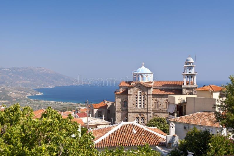Marathokampos op Samos royalty-vrije stock fotografie