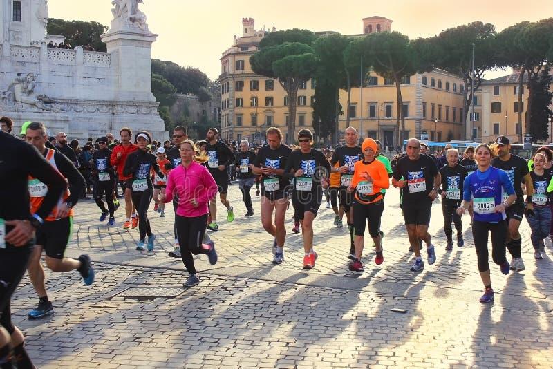 Marathon à Rome, Italie images libres de droits