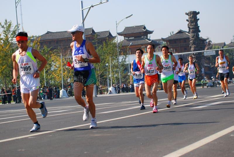 marathon 2008 d'international de Pékin image libre de droits
