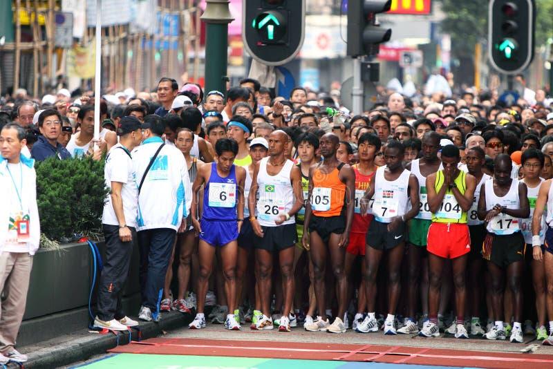 marathon 2009 de Hong Kong images libres de droits