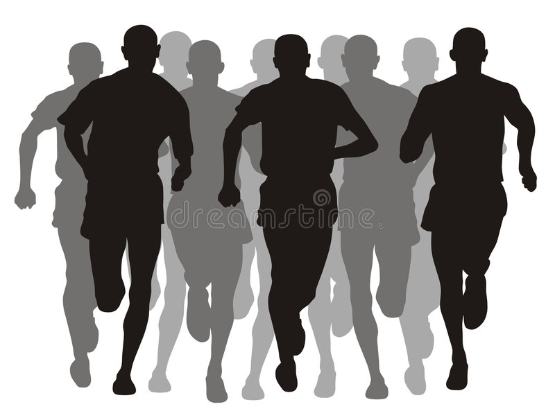 Download Marathon stock vector. Illustration of vector, sprint - 6026116