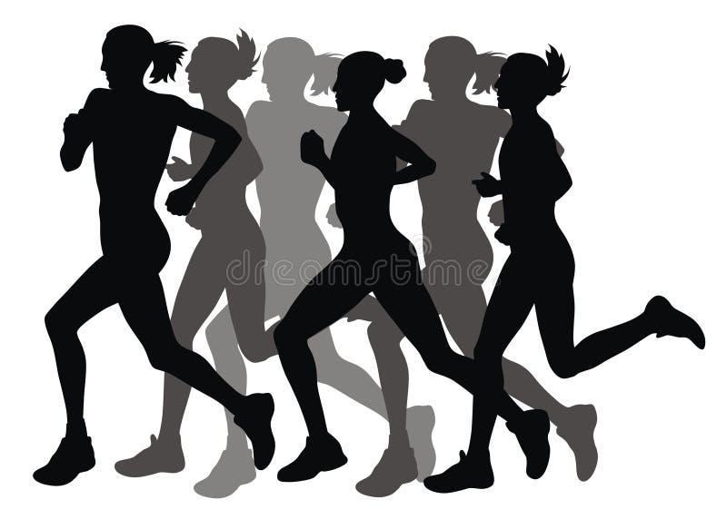 Marathon illustration de vecteur