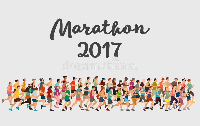 Marathon 2017 vector illustratie