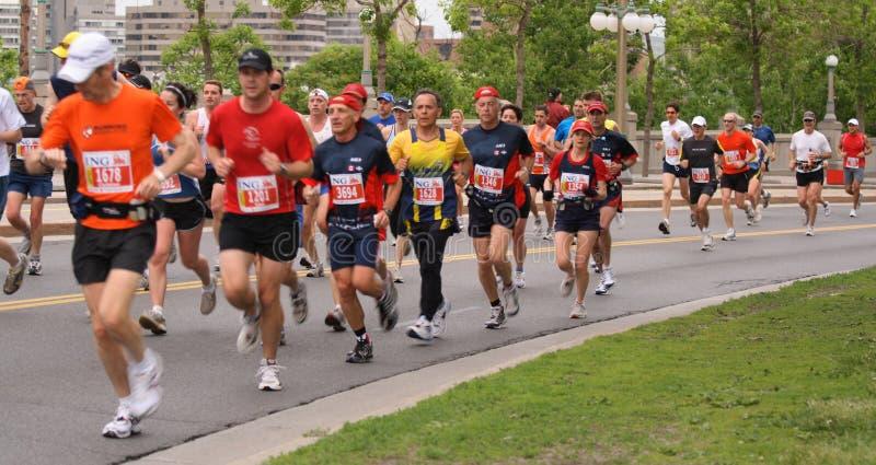 Marathon - Ausdrücke stockbild