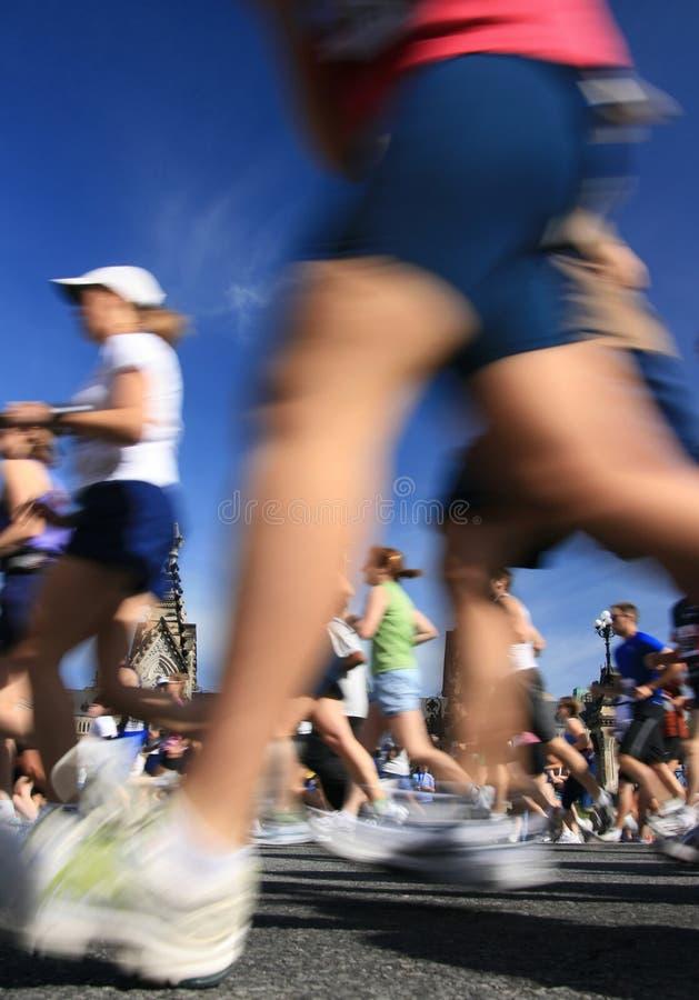 Marathon-Bewegungszittern lizenzfreie stockfotos